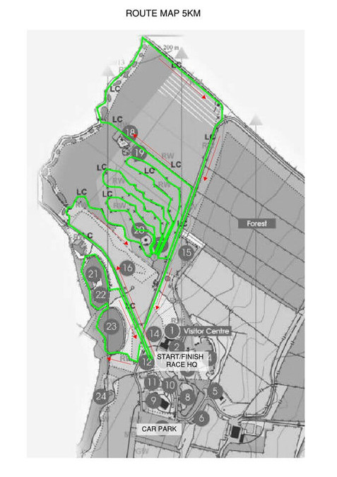 west muskerry ac millstreet 5k trail run 2019 route map