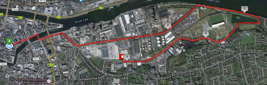 Grant Thornton 5k Corporate Challenge Course Route Map