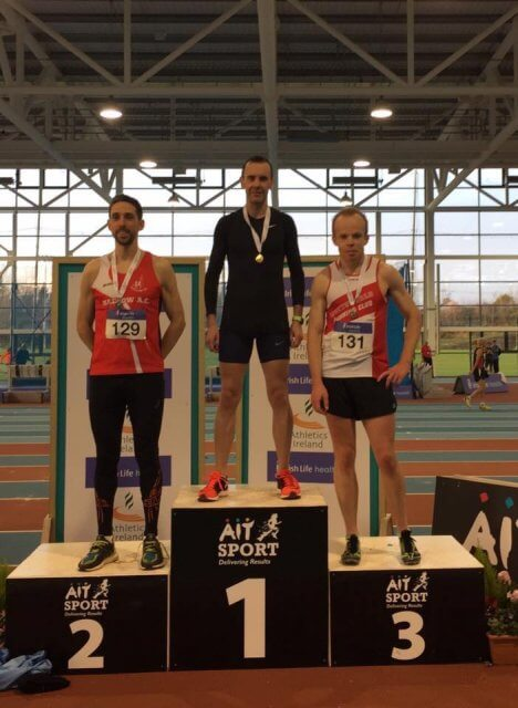 M40 1500m Masters Men Indoor Championships Podium 2017