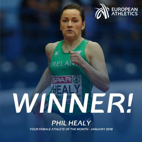 phil healy european athlete of the month january 2018