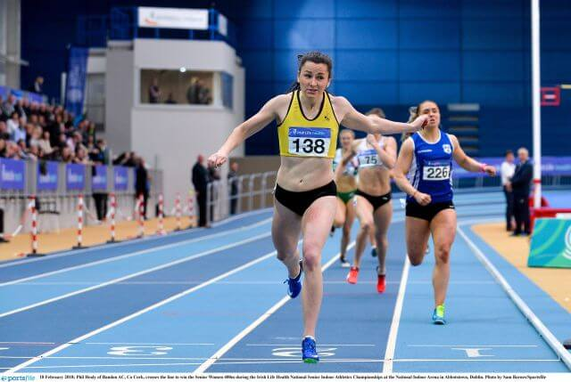 phil healy national indoor 400m champion 2018 photo sam barnes sportsfile