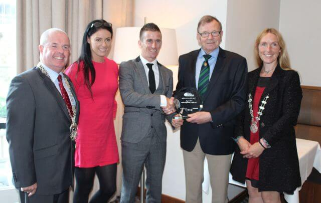 rob heffernan cork city sports athlete of the month august 2017 presentation