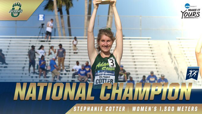 stephanie cotter ncaa 1500m champion 2019 kingsville