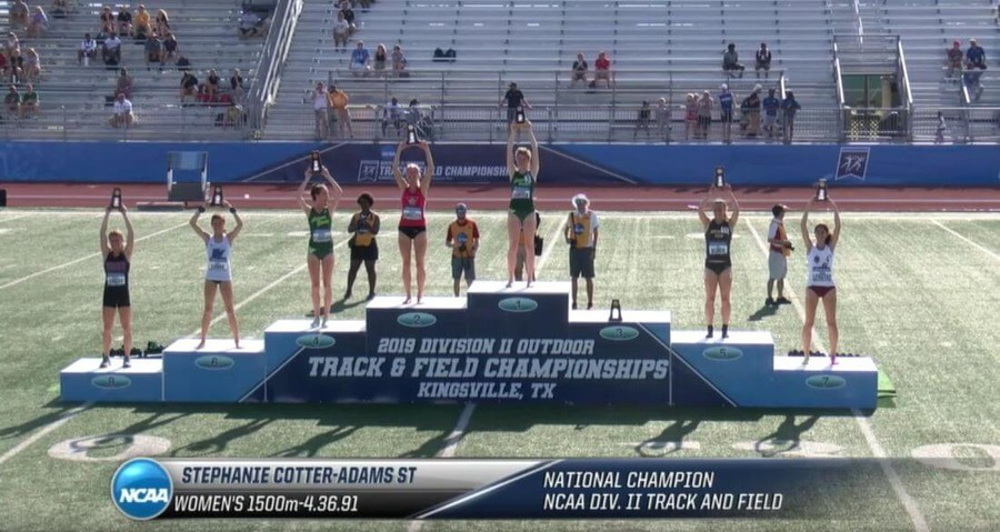 stephanie cotter ncaa div ii 1500m champion 2019
