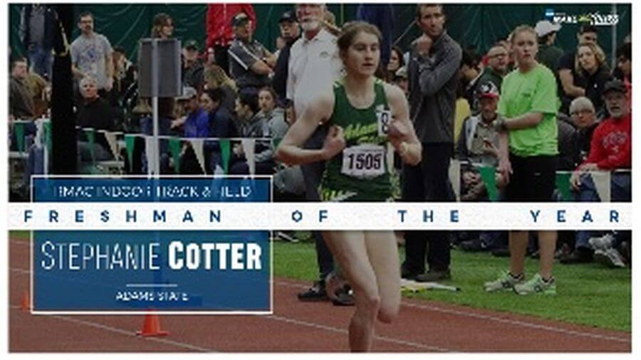 stephanie cotter rmac freshman of the year 2019