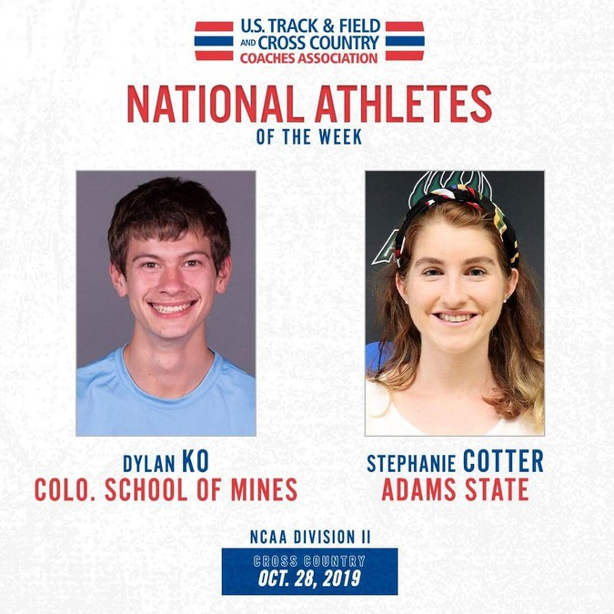 ustfccca athletes of week oct 28 2019