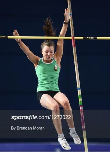 ciara hickey national senior indoor pole vault 2018 photo brendan moran sportsfile a