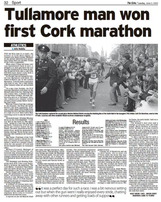 evening echo 1982 cork city marathon report 200602