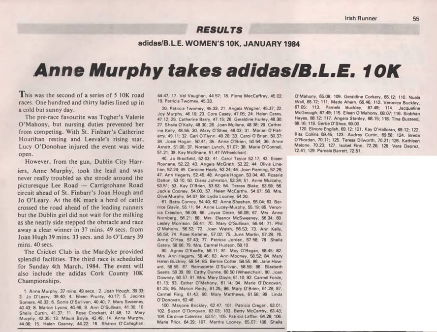 adidas ble 10k race 2 report 1983 irish runner vol 4 no2 p55 a