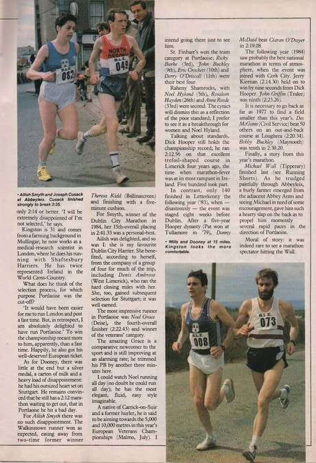 national marathon portlaoise 1986 irish runner vol 6 no 4 p16 18 43 a