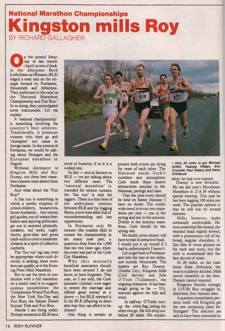 national marathon portlaoise 1986 irish runner vol 6 no 4 p16 18 43 b