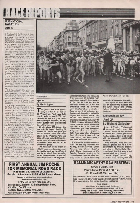 national marathon portlaoise 1986 irish runner vol 6 no 4 p16 18 43 c