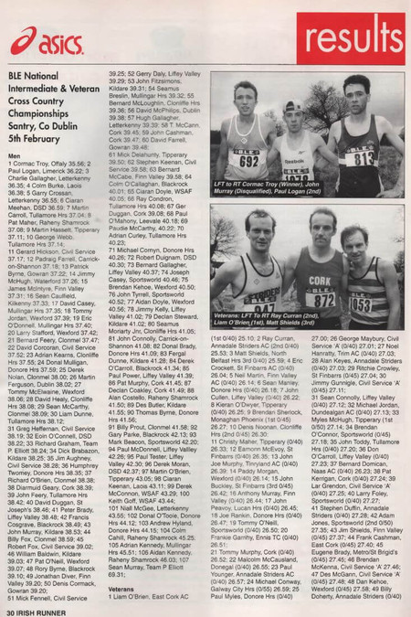 ble national intermediate veterans xc 1995 irish runner vol 15 no 2 p 50 53 1