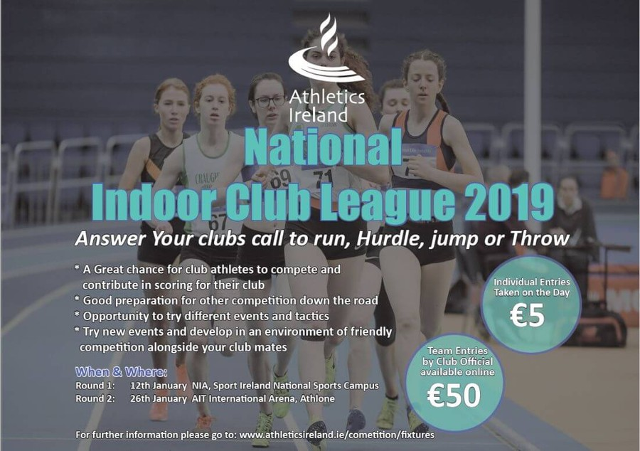 athletics ireland national indoor leagues banner 2019