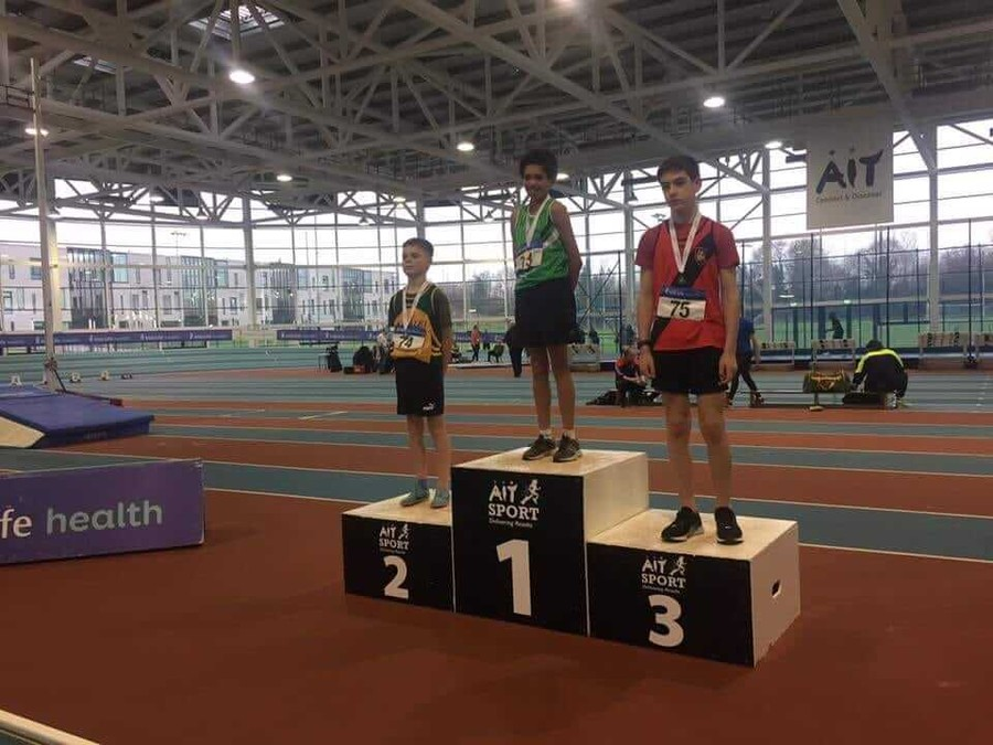 boys under 14 national indoor combined events podium 2019