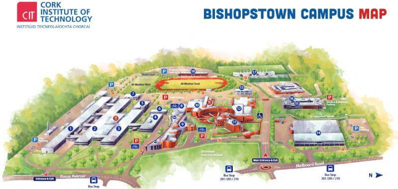 cit bishopstown campus map